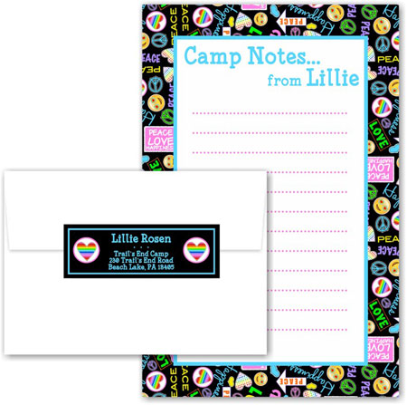 A Namedrops Item - Camp Notepad Sets (Camp Peace Love Happiness)