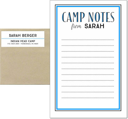 3 Bees - Camp Notepad Sets (Camp Notes Blend Inline - Blue)