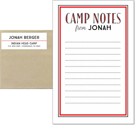 3 Bees - Camp Notepad Sets (Camp Notes Blend Inline - Red)