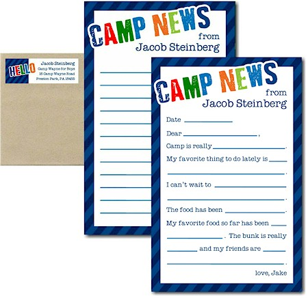 3 Bees - Camp Notepad Sets (Diagonal Stripe Camp Boy)