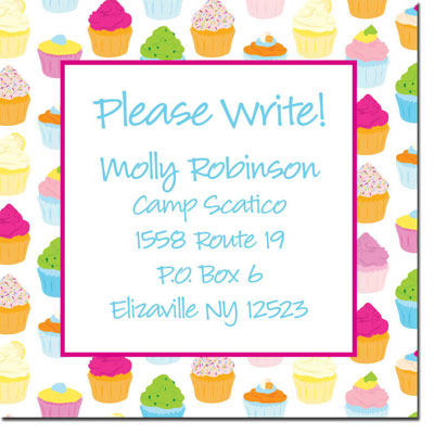 iDesign Keep In Touch Cards - Cupcakes White (Camp)
