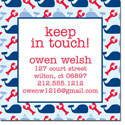iDesign Keep In Touch Cards - Whales & Lobsters Nautical (Camp)