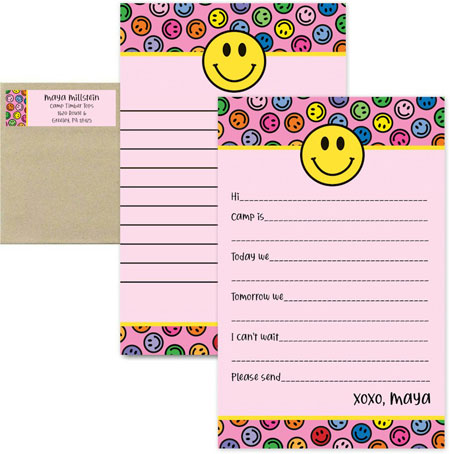 Camp Notepad & Label Sets by iDesign (Rainbow Smiley Face)