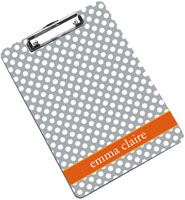 Devora Designs - Clipboards (Grey Carrot Dots)