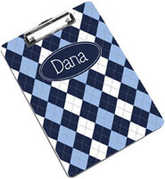 Devora Designs - Clipboards (Blue Argyle)