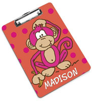 Devora Designs - Clipboards (Hot Pink Monkey)