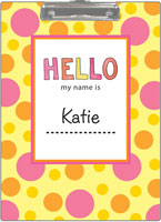 Kelly Hughes Designs - Clipboards (Hello My Name Is)