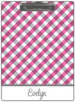 Kelly Hughes Designs - Clipboards (Pink Gingham)