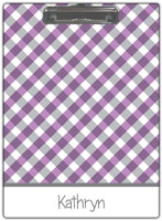 Kelly Hughes Designs - Clipboards (Purple Gingham)