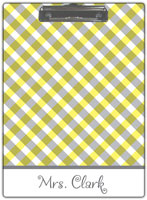 Kelly Hughes Designs - Clipboards (Yellow Gingham)