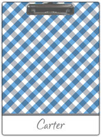 Kelly Hughes Designs - Clipboards (Blue Gingham)
