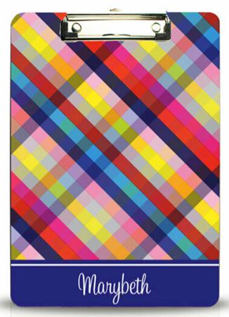 Kelly Hughes Designs - Clipboards (Bright Gingham)