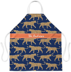 Clairebella Aprons - Leopard Navy