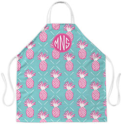 Clairebella Aprons - Pineapples Blue