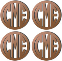 Personalized Bronze Mirrored Acrylic Coasters
