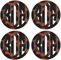 Personalized Tortoise Mirrored Acrylic Coasters