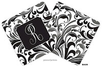 PicMe Prints - Personalized Coasters (Hip Floral Black)