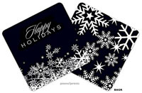 PicMe Prints - Coasters (Snow Flurries Black Standard)