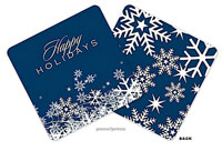 PicMe Prints - Coasters (Snow Flurries Navy Standard)