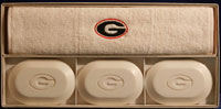 College Soap & Guest Towel Set - University of Georgia (UGA)