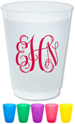 The Boatman Group - Reusable Flexible Cups (Script Monogram)