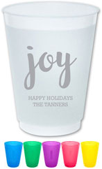 The Boatman Group - Reusable Flexible Cups (Joy Script)