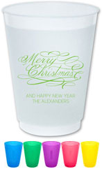 The Boatman Group - Reusable Flexible Cups (Merry Christmas Script)