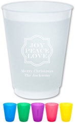 The Boatman Group - Reusable Flexible Cups (Joy Peace Love)
