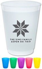 The Boatman Group - Reusable Flexible Cups (Nordic Snowflake)