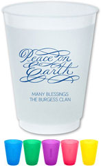 The Boatman Group - Reusable Flexible Cups (Peace On Earth Script)