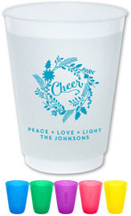 The Boatman Group - Reusable Flexible Cups (Cheer Wreath)