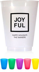 Holiday Resuable Cups by Chatsworth (Joyful Square)