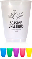 Holiday Resuable Cups by Chatsworth (Seasons Greetings)