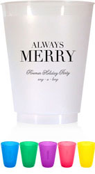 Holiday Resuable Cups by Chatsworth (Always Merry)