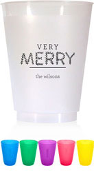 Holiday Resuable Cups by Chatsworth (Very Merry)