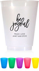 Holiday Resuable Cups by Dabney Lee (Be Joyful)
