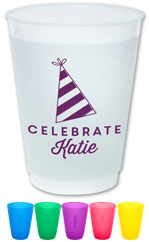Resuable Cups by Dabney Lee (Party Hat)