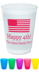 Holiday Resuable Cups by Boatman Geller (Happy Flag)