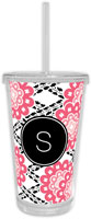 Chatsworth Debra Valencia - Beverage Tumblers with Straw (Camilla Pink)