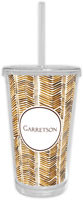Chatsworth Robin Maguire - Beverage Tumblers with Straw (Herringbone)