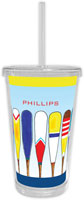 Chatsworth Robin Maguire - Beverage Tumblers with Straw (Colorful Oars)