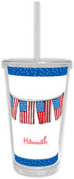 Chatsworth Robin Maguire - Beverage Tumblers with Straw (Flags)
