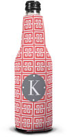 Dabney Lee Personalized Bottle Koozies - Greek Key