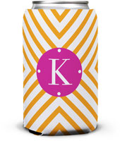 Dabney Lee Personalized Can Koozies - Chevron