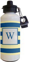 Kelly Hughes Designs - Water Bottles (Stripe Navy - Light Yellow)