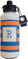 Kelly Hughes Designs - Water Bottles (Stripe Blue - Orange)