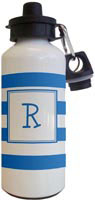 Kelly Hughes Designs - Water Bottles (Stripe Blue - White)