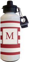 Kelly Hughes Designs - Water Bottles (Stripe Deep Red - Cream)