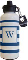 Kelly Hughes Designs - Water Bottles (Stripe Navy - White)