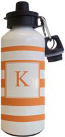 Kelly Hughes Designs - Water Bottles (Stripe Orange - White)